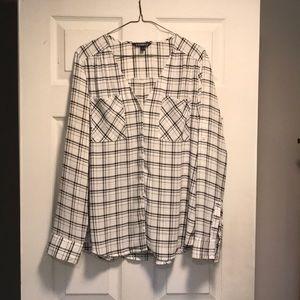 Express Portofino shirt plaid Large